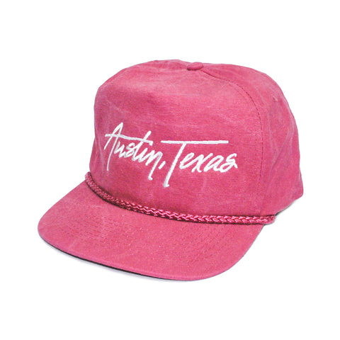 Austin Texas Retro 5-Panel Poppy