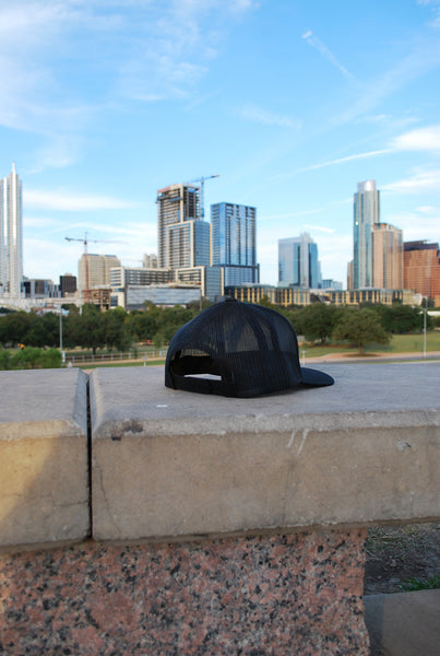 Texas Forever 6-Panel Snap Back-Black and White