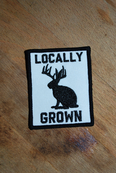 Locally Grown Patch Black and White
