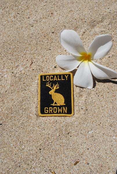 Locally Grown Patch Gold and Black