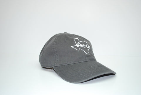 Love Texas Dad Hat Grey