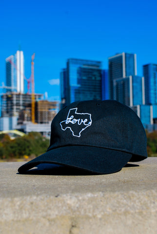 Love Texas Dad Hat Black