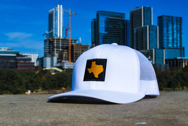 TX Patched Hat White