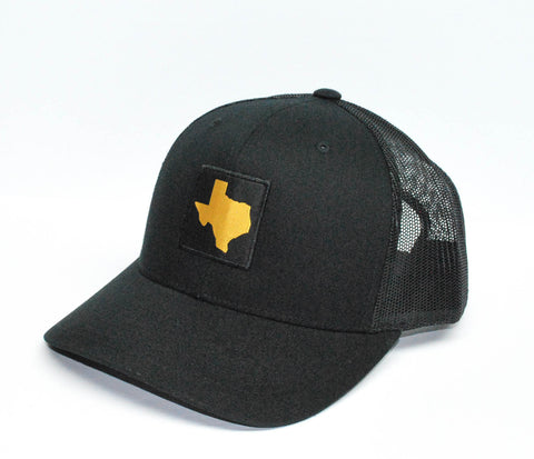 TX Patched Hat Black