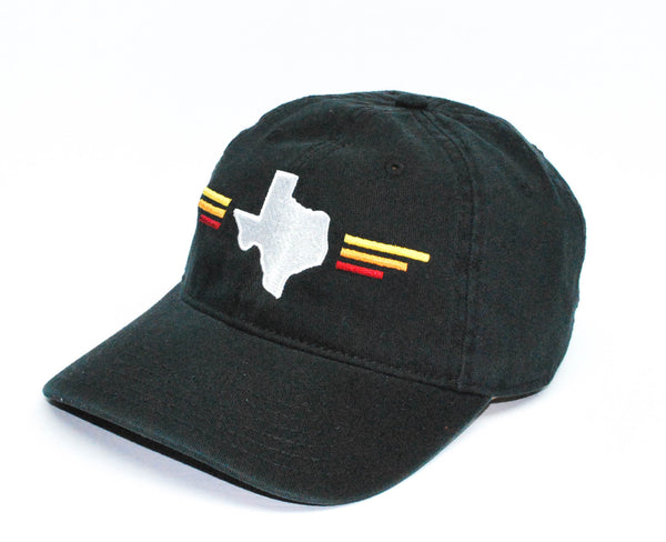 TX Sunset Dad Hat Black