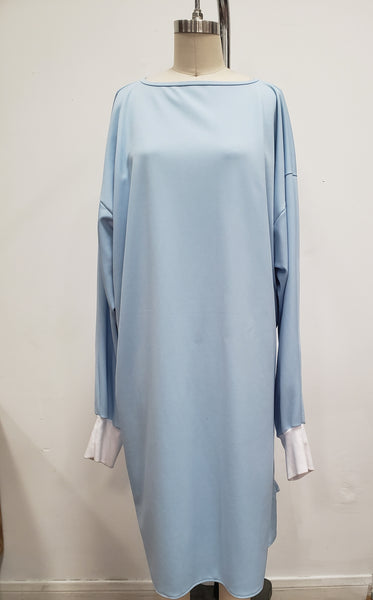 CLOTH MEDICAL GOWNS WITH RIBBED SLEEVE