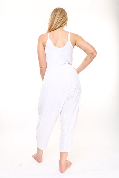 White Traveler Jumpsuit - KDW Apparel