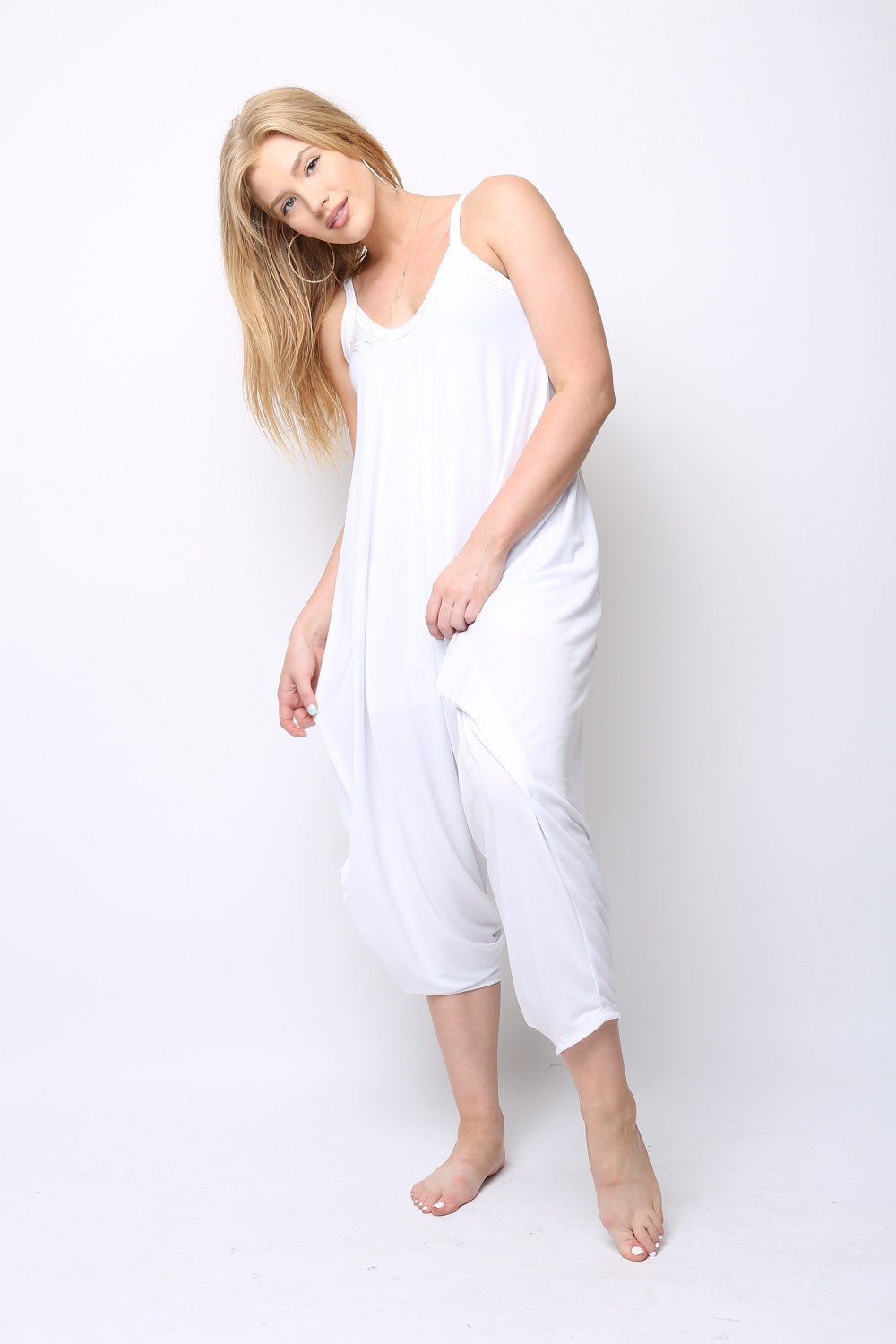 Limited Edition White Traveler Jumpsuit - KDW Apparel