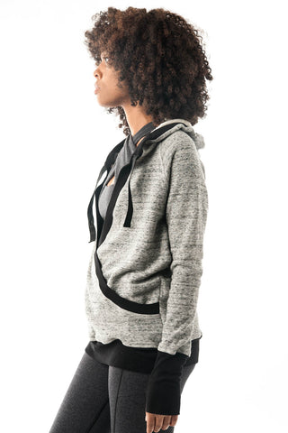 Limited Edition Grey and Black Pullover Hoodie Wrap