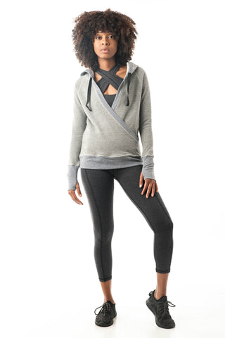 Light Grey Pullover Hoodie Wrap