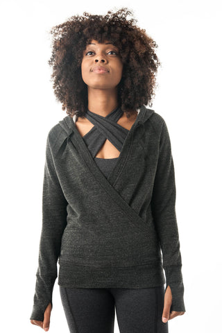 Dark Grey Pullover Hoodie Wrap - KDW Apparel