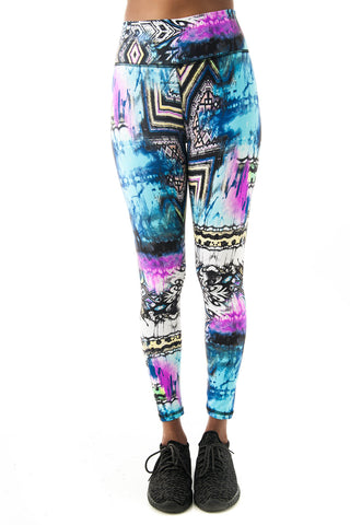 Mayan Temple Leggings - KDW Apparel
