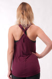 Not your Basic Pilates Tank-Burgundy - KDW Apparel
