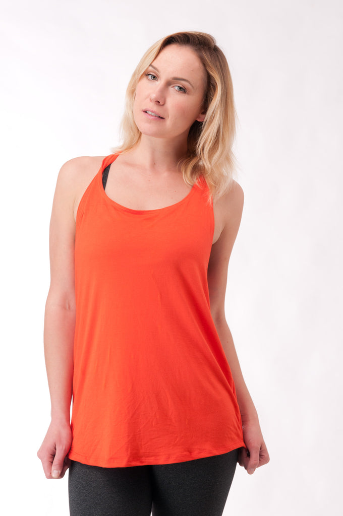 Not your Basic Pilates Tank-Orange - KDW Apparel