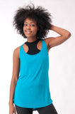 Not your Basic Pilates Tank-Turqouise - KDW Apparel