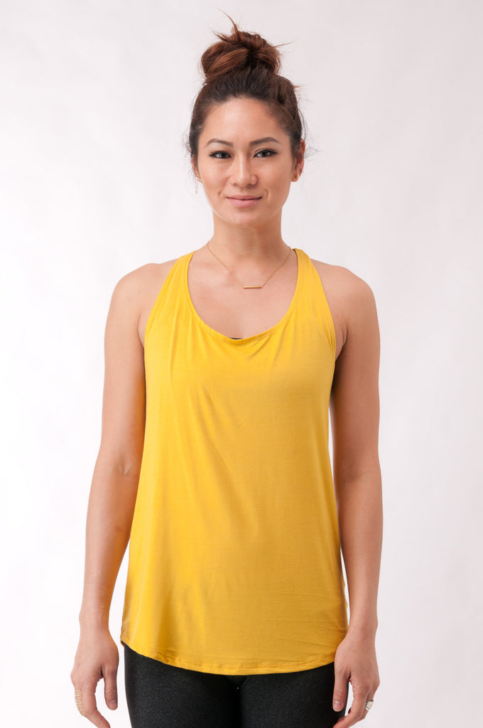 Not your Basic Pilates Tank-Yellow - KDW Apparel