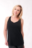 Not your Basic Pilates Tank-Black - KDW Apparel