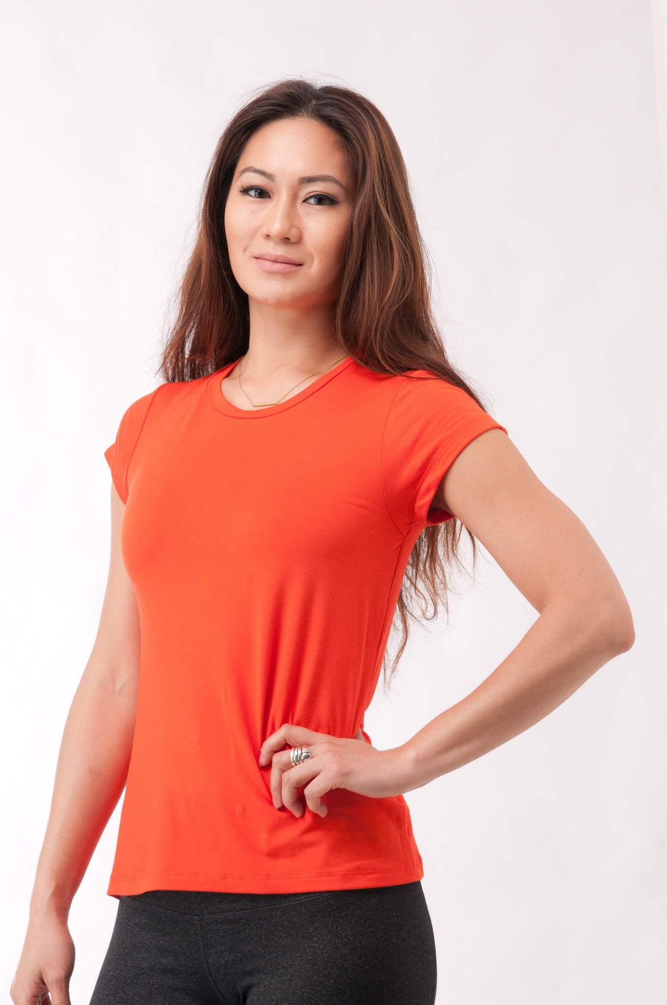 Not So Basic Orange Pila-Tee - KDW Apparel