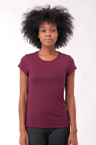 Not So Basic Burgundy Pila-Tee - KDW Apparel