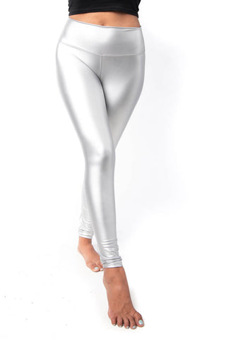 Silver Liquid Leggings
