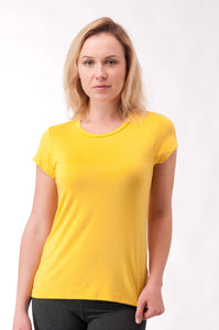 Not So Basic Yellow Pila-Tee - KDW Apparel