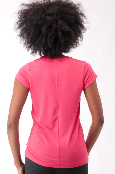 Not So Basic Coral PilaTee - KDW Apparel