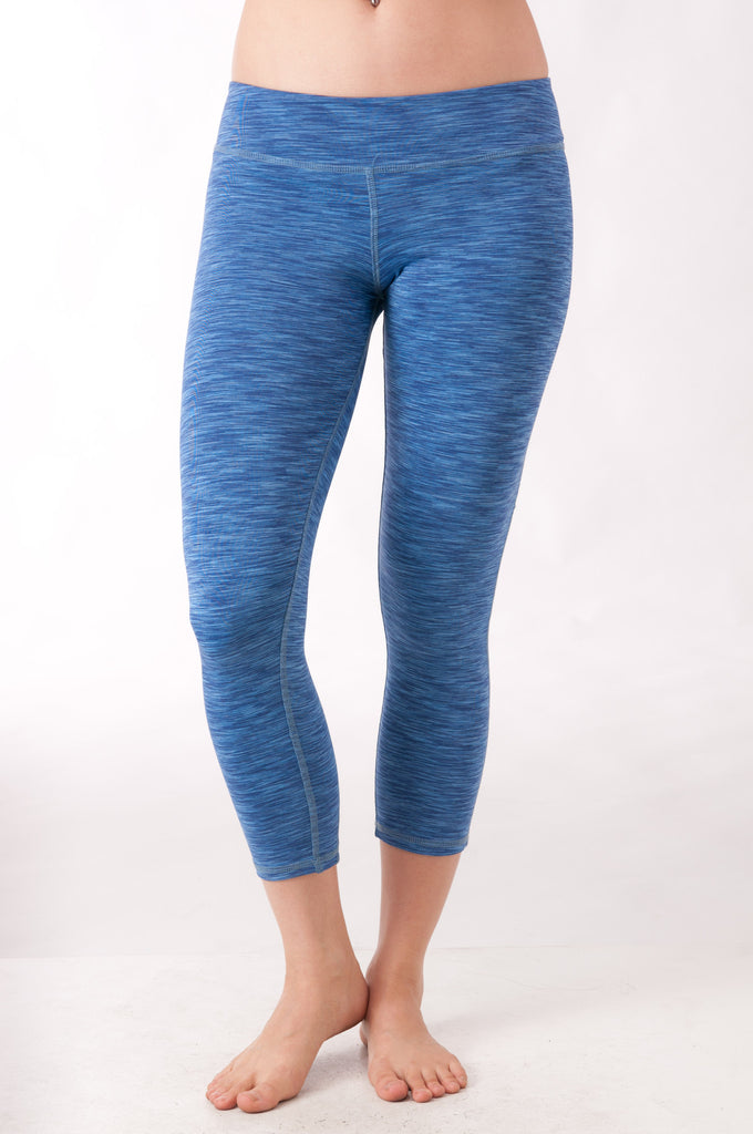 Blue Space Dye Capris - KDW Apparel