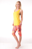 Fallen Feathers Pilates Capri - KDW Apparel
