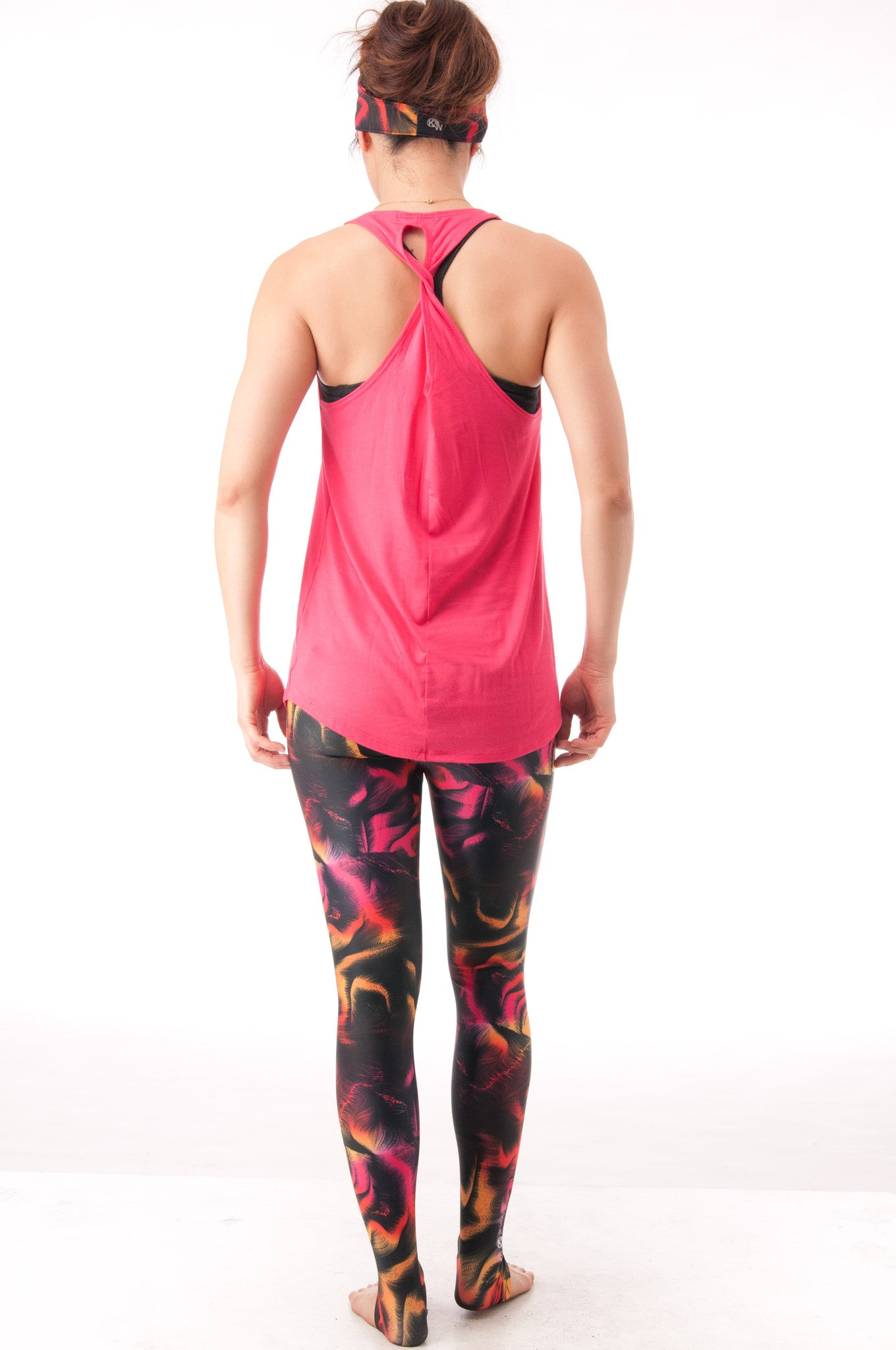 Not your Basic Pilates Tank-Coral - KDW Apparel