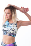 Goddess Crop Top-Mayan Temple Print - KDW Apparel