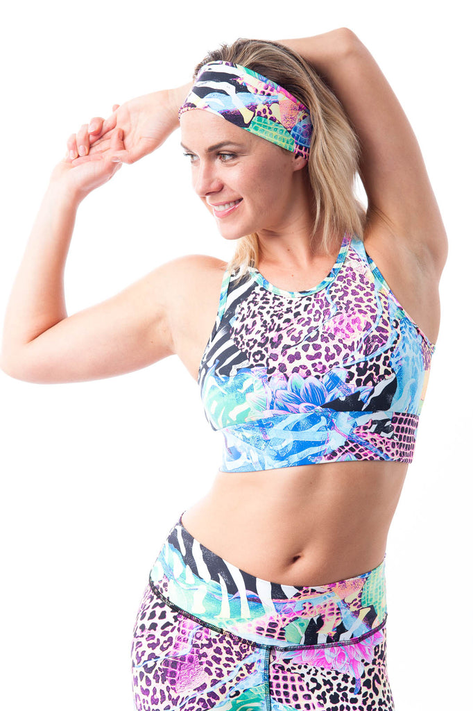 Goddess Crop Top - Safari Print - KDW Apparel