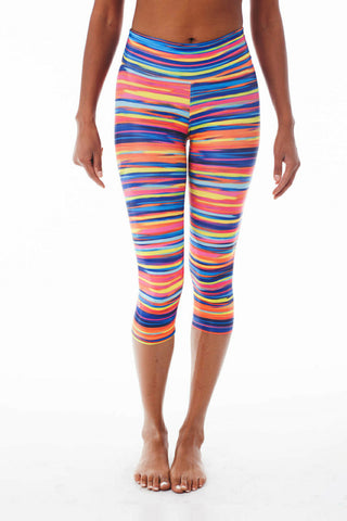 Malibu Barbie Stripes Capris - KDW Apparel