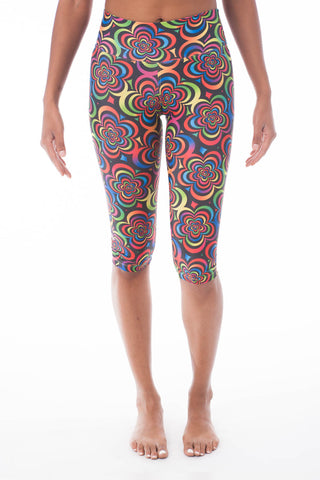 Flower Child Pilates Capri - KDW Apparel