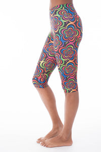 Flower Child Capri Leggings - KDW Apparel
