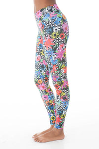 Flower Pop Long Leggings - KDW Apparel
