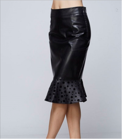 Faux Leather Peplum Skirt