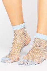 Baby Blue Fishnet Socks