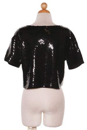 Jesus Sequined Top