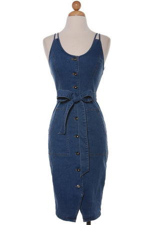 Button Up Denim Dress SMALL ONLY WILL NOT RESTOCK