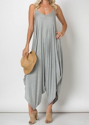 Heather Grey Oversized Jumpsuit
