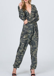 Camo Jumpsuit LONG SLEEVE