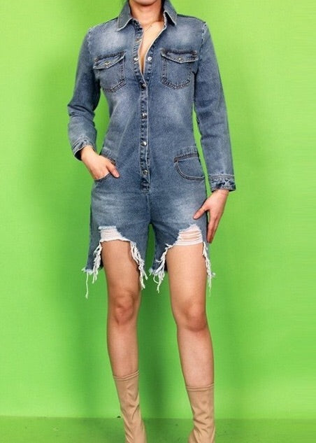 The Mechanicsville Denim Romper