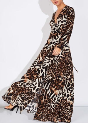See Me MEOW Leopard Maxi Dress