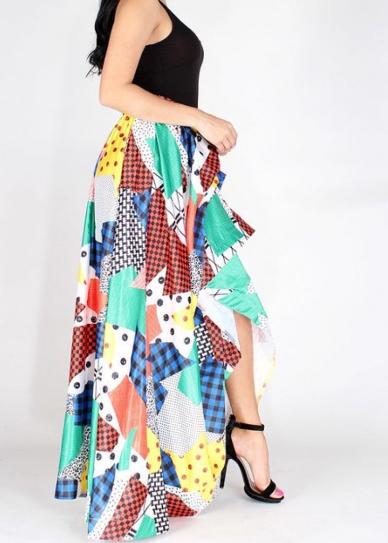 Been Around The World High Low Skirt