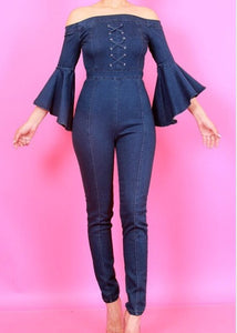 The Corset Denim Jumpsuit
