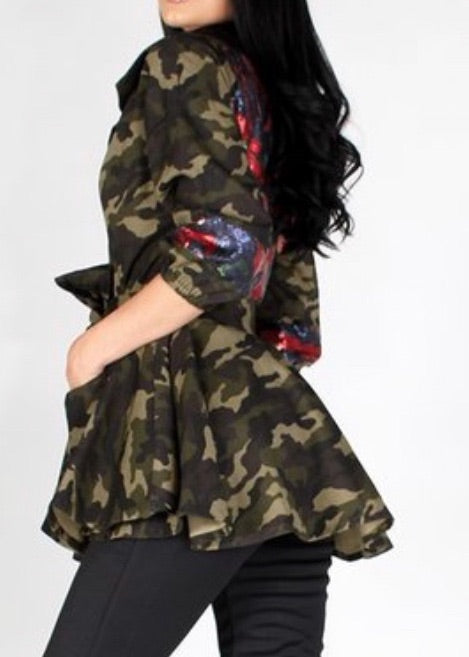 Ready for Love and War Camo Jacket