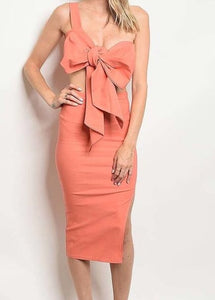 Peach Two Piece Bow Set
