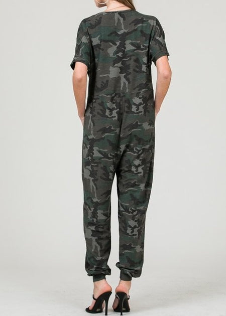 Camo Jumpsuit SHORT SLEEVE
