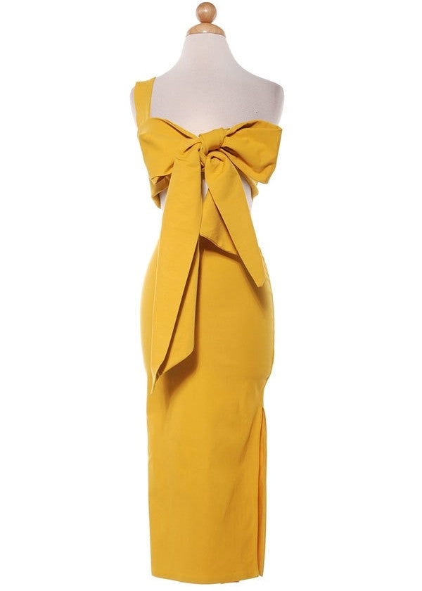 Mustard Two Piece Bow Set