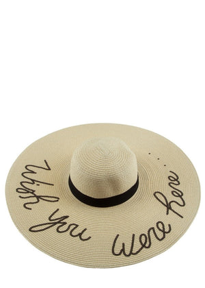 Wish You Were Here Straw Hat